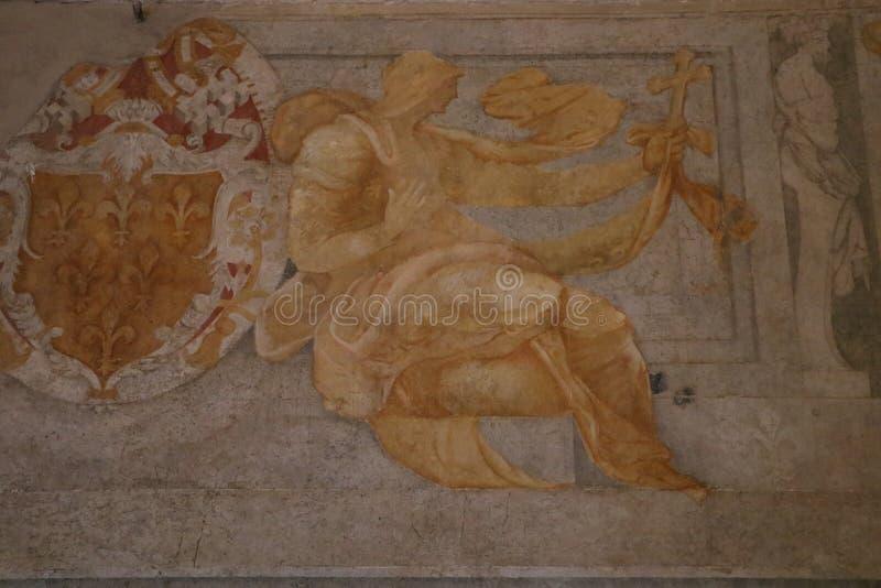 Download Geometrisk Målningsmodell För Abstrakt Dekorativa Blommor Stock Illustrationer - Illustration av präst, historiskt: 76704047
