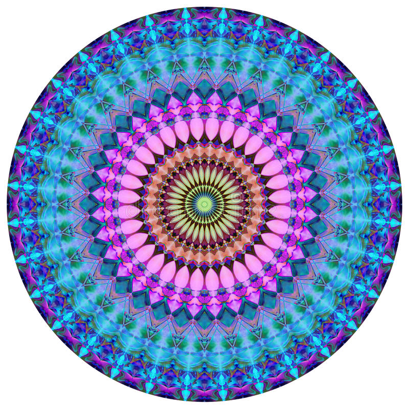 geometrisk mandala royaltyfri illustrationer