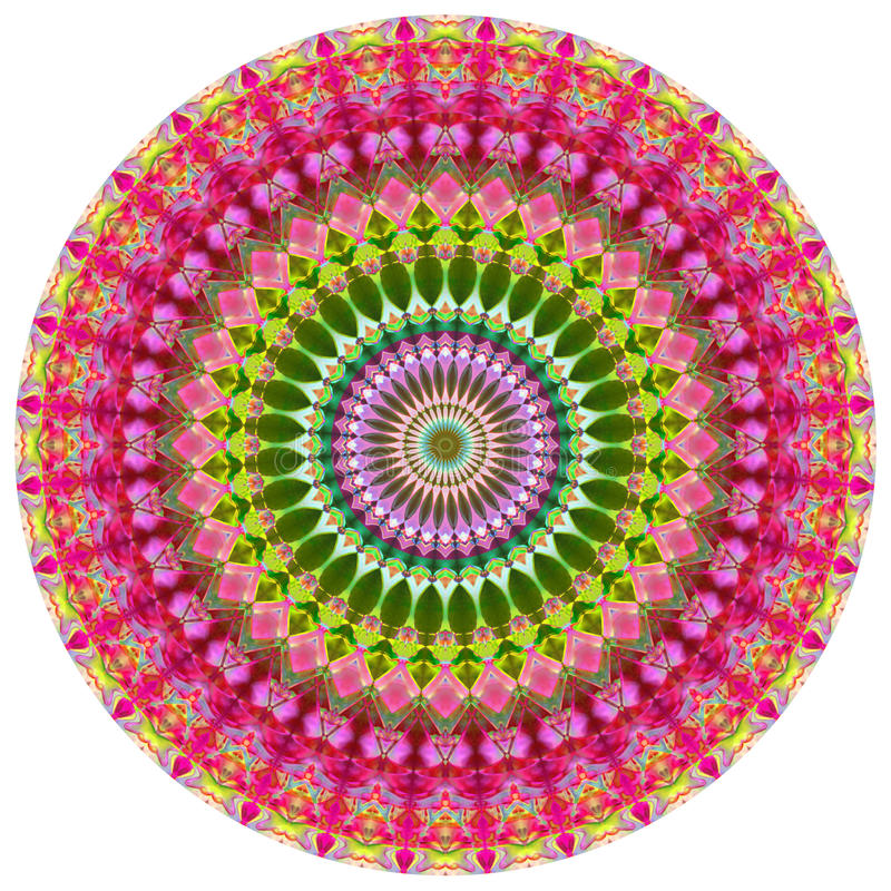 geometrisk mandala stock illustrationer
