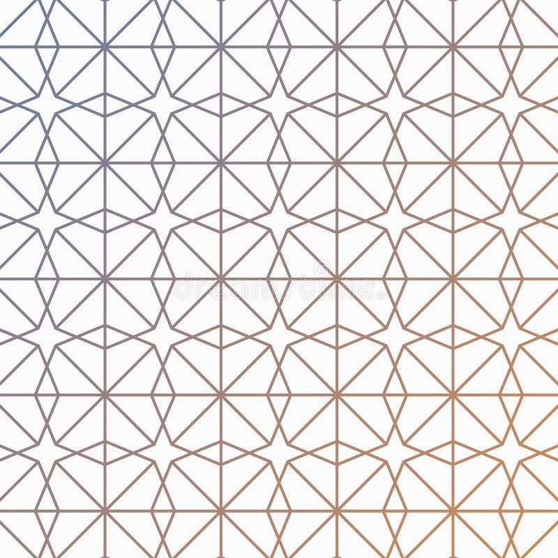 Geometrisk modell av oktogonlinjer Vektorillustration som innehålls med oktogon, trianglar och linjer med att ändra för lutning vektor illustrationer