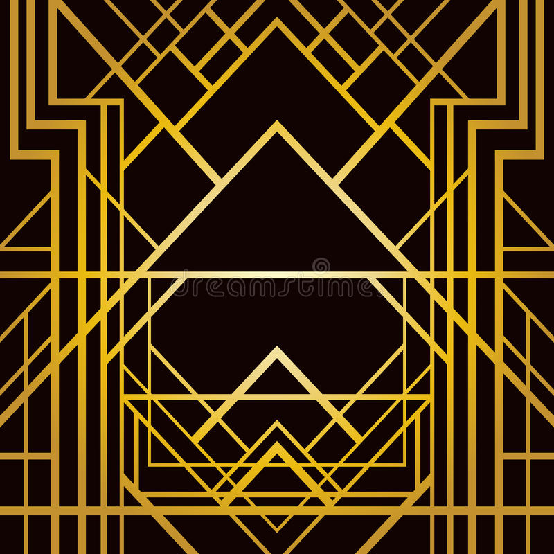 Geometrisk modell för art déco royaltyfri illustrationer