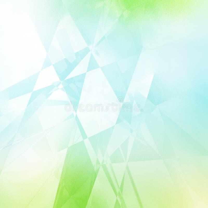 Geometrisk modell för gräsplan och för blått arkivfoto