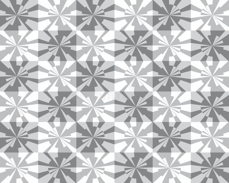 Geometrisk modell för sömlös abstrakt modell royaltyfri illustrationer