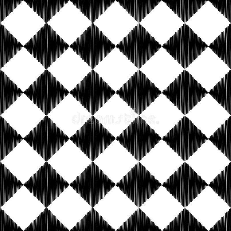 Geometrisk modell för sömlös fyrkantig romb vektor illustrationer