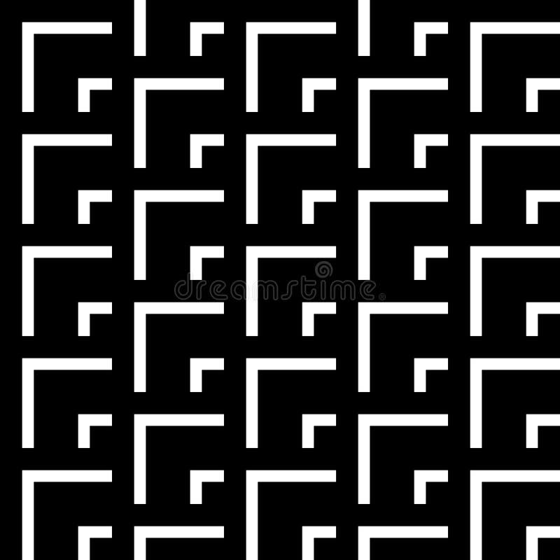Geometrisk modell för sömlös tappning royaltyfri illustrationer