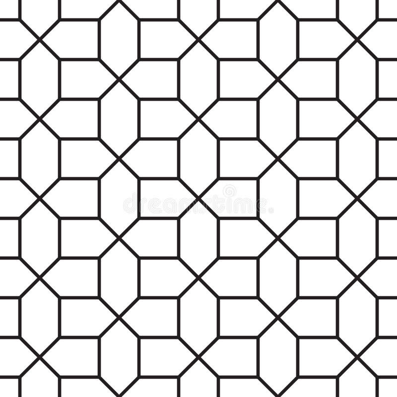 Geometrisk modell för sömlös tappning vektor illustrationer
