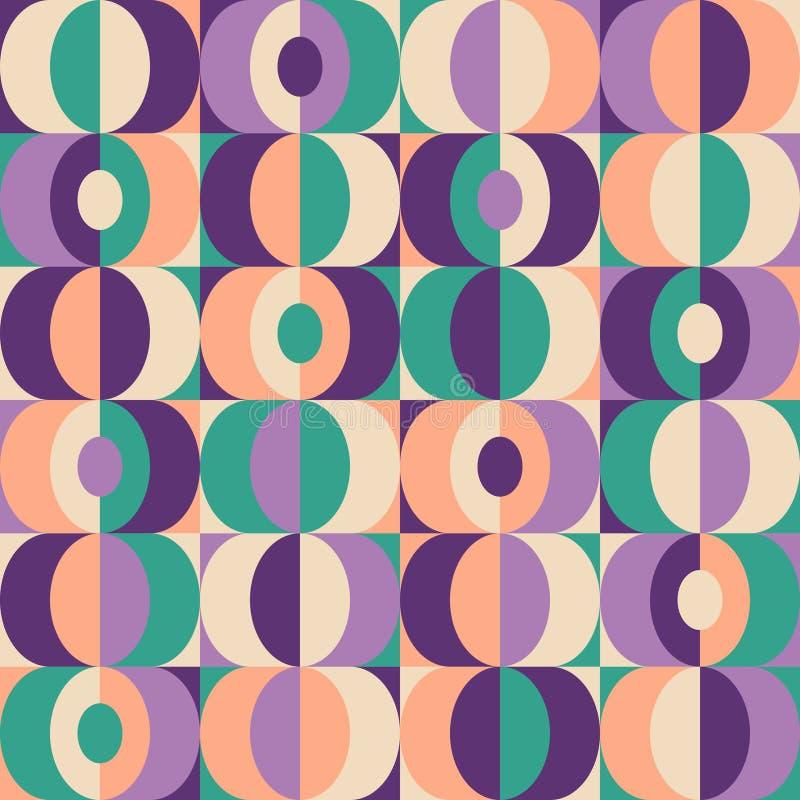 Geometrisk modell för sömlös tappning stock illustrationer