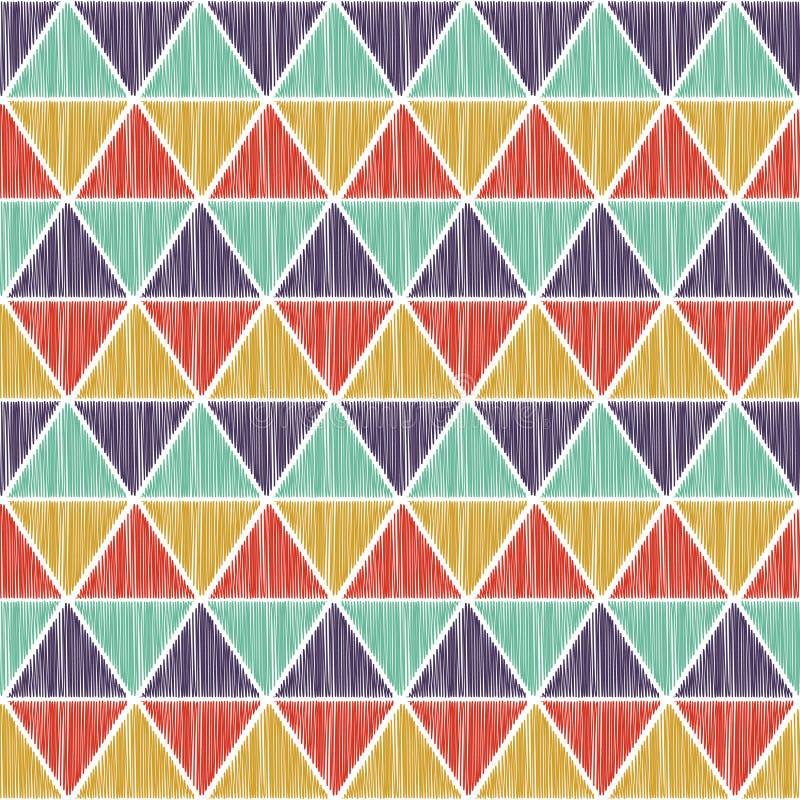 Geometrisk modell för sömlös triangel royaltyfri illustrationer
