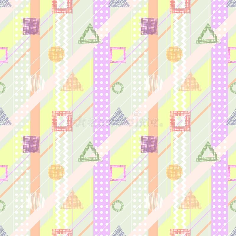 Geometrisk modell för sömlös vektor stock illustrationer