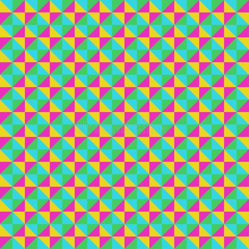 Geometrisk modell för sömlös vektor för designbakgrund, tyger som scrapbooking royaltyfri illustrationer