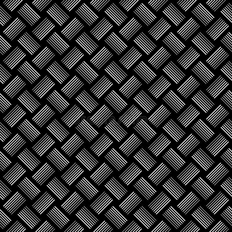Geometrisk modell för svartvita sömlösa kontroller stock illustrationer