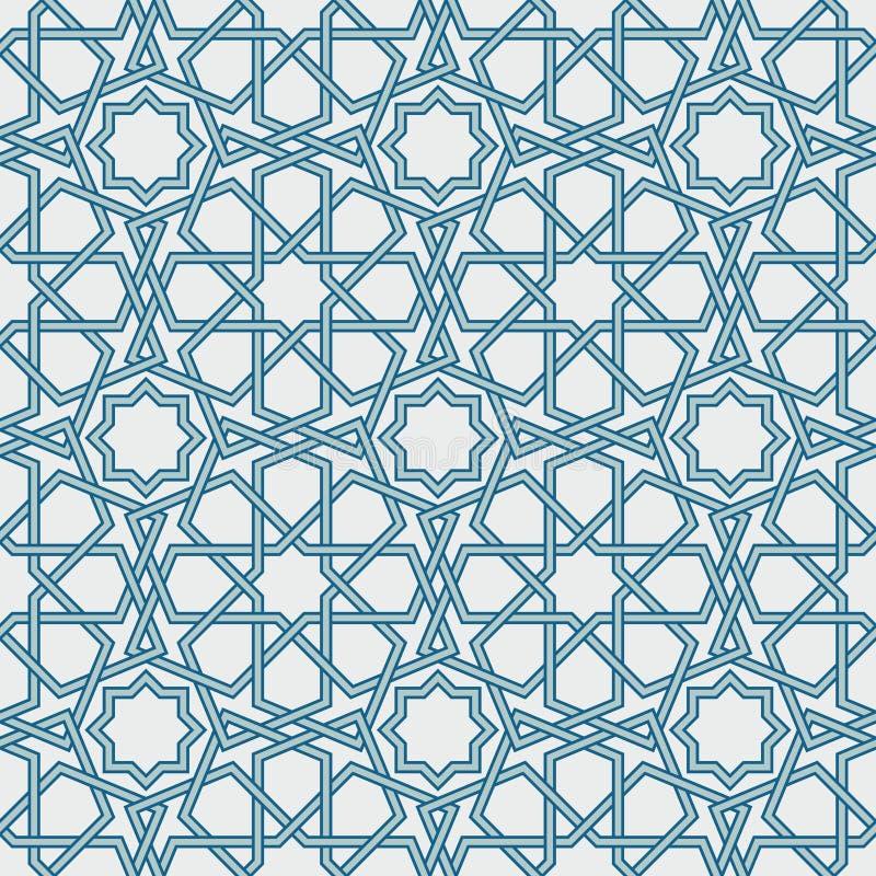 Geometrisk modell för traditionell islam som är sömlös royaltyfri illustrationer