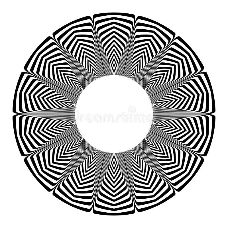 Geometrisk modell f?r cirkel vektor f?r bild f?r designelementillustration linjer textur royaltyfria foton