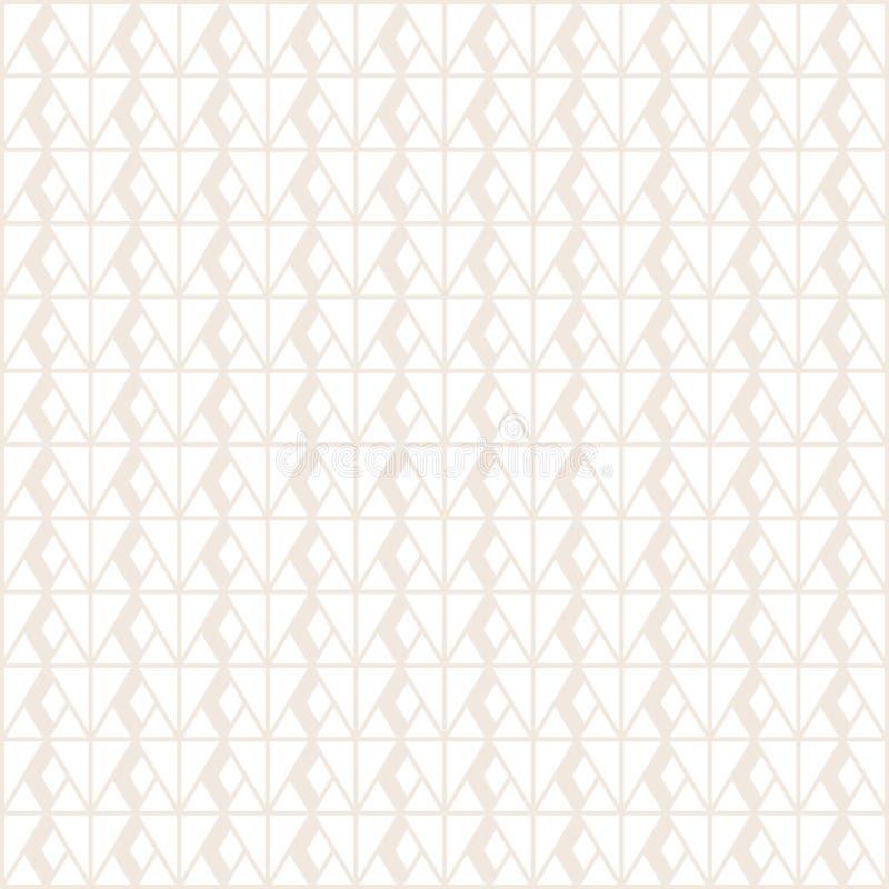 Geometrisk modell med grå färglinjer och skugga på vit bakgrund; vektorillustration stock illustrationer