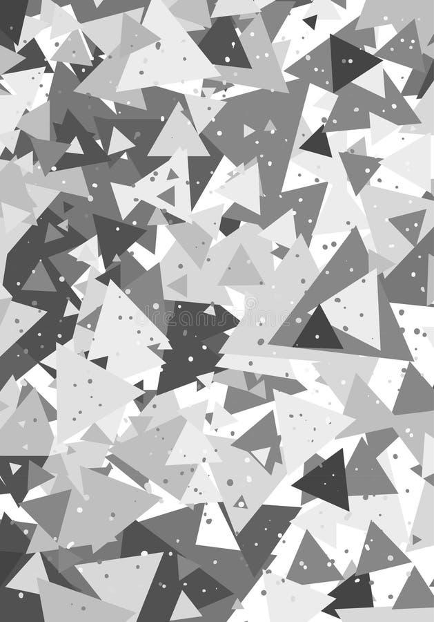 Geometrisk modell med trianglar royaltyfria bilder