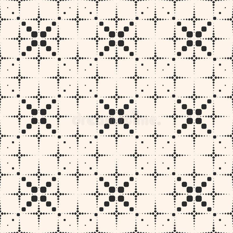 Geometrisk modell, rastrerade prickiga linjer, exponeringar, fyrverkerier stock illustrationer