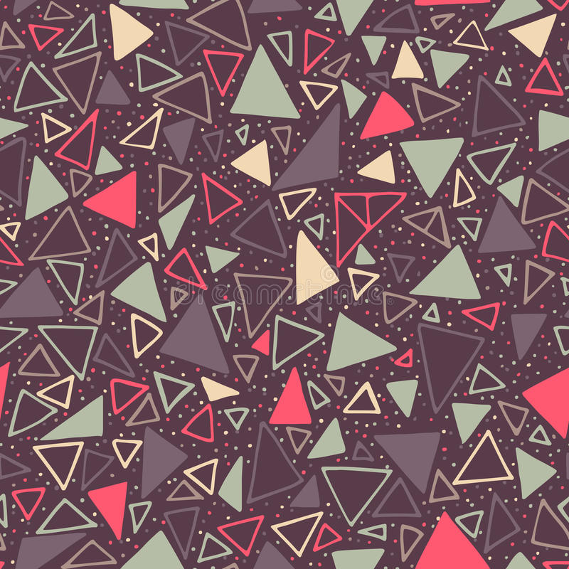 geometrisk modell Sömlös bakgrund med trianglar och prickar royaltyfri illustrationer