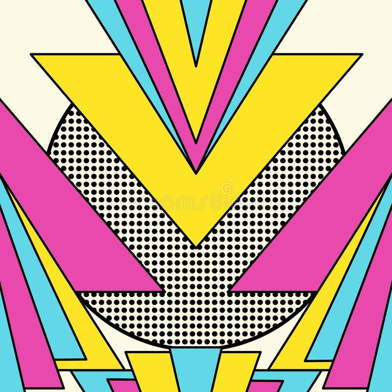 Geometrisk modellbakgrund för Retro 80-tal royaltyfri illustrationer