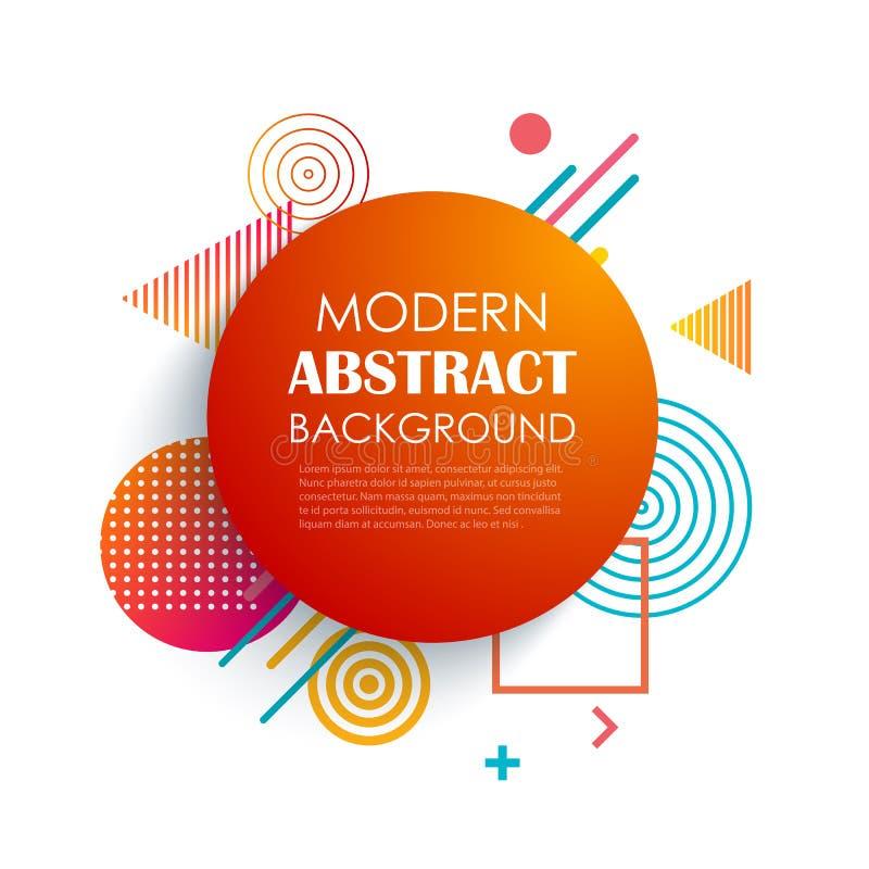 Geometrisk modelldesign och bakgrund för abstrakt röd cirkel Bruk f?r den moderna designen, r?kningen, mall, dekorerade, broschyr royaltyfri illustrationer
