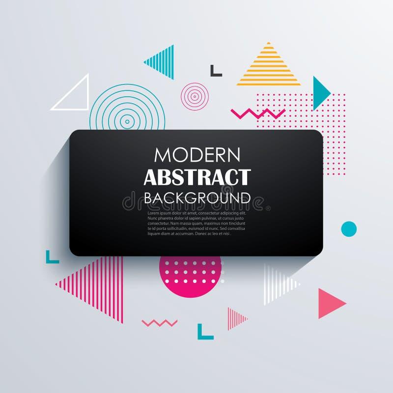 Geometrisk modelldesign och bakgrund för abstrakt rektangel stock illustrationer