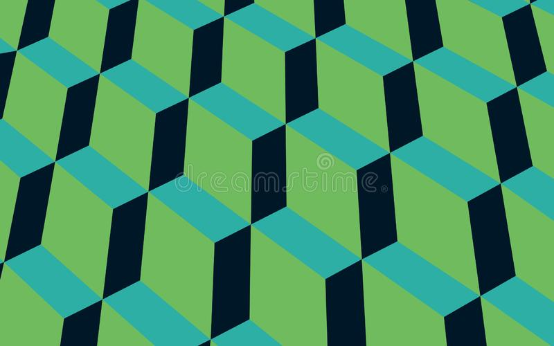 Geometrisk modellvektor för grön kombination royaltyfri illustrationer