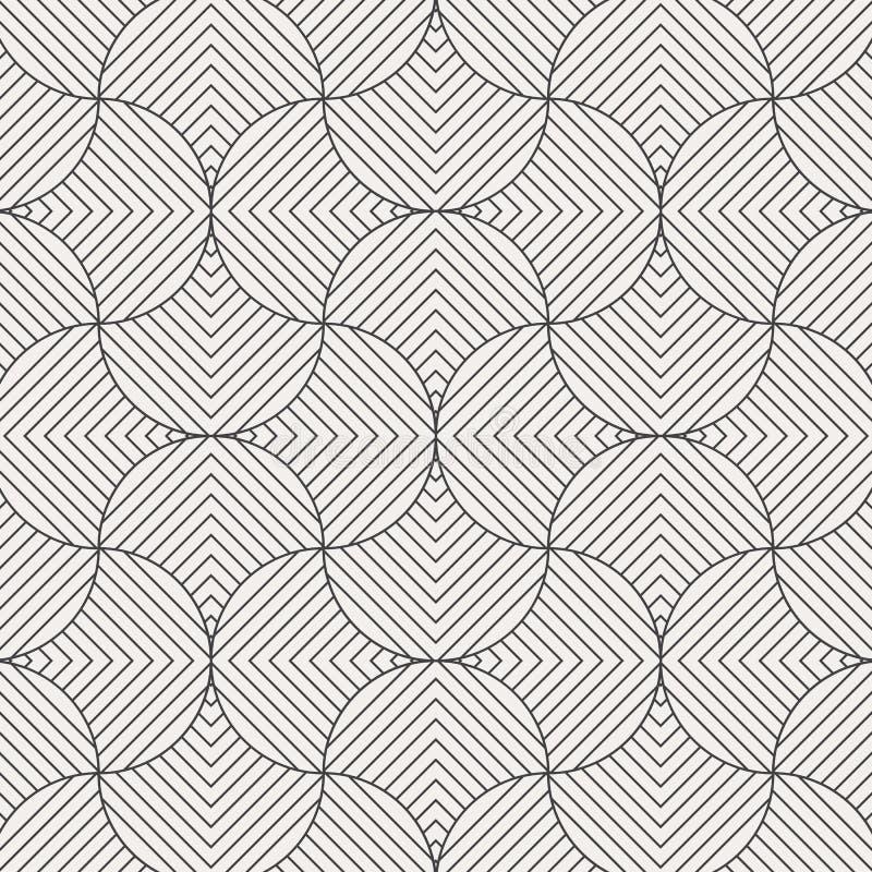 Geometrisk modellvektor Geometriskt enkelt modetygtryck Vektor som upprepar tegelplattatextur Överlappande skraj temanolla för ci vektor illustrationer