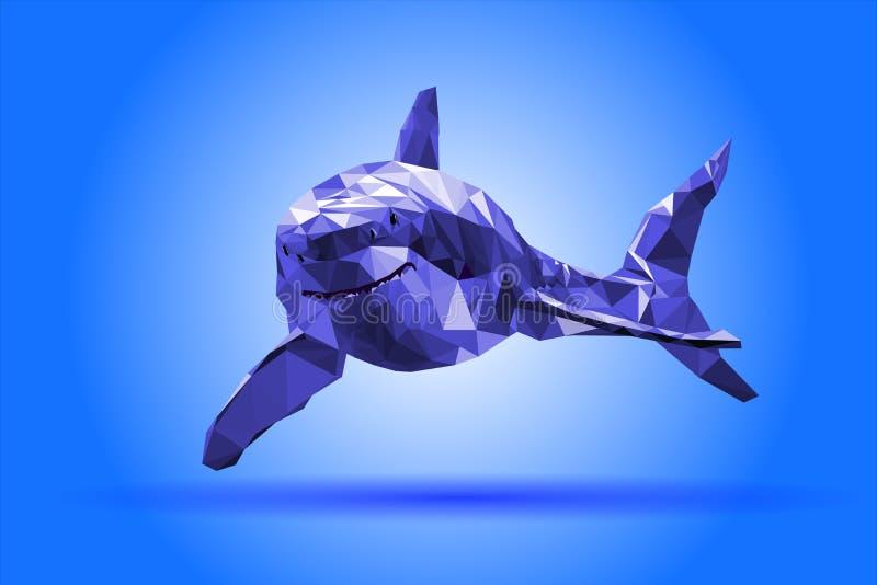 Geometrisk modern illustration för hajkropp royaltyfri illustrationer