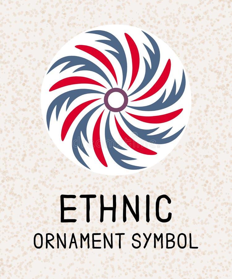 Geometrisk mosaik för Mandala Logomallar för brunnsort och yogamitt Indisk antistress medaljong Koppla av symbolmodellen Abstrakt stock illustrationer