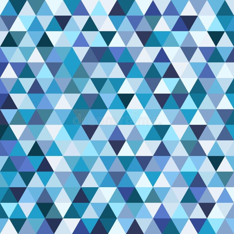 Geometrisk mosaikmodell från blå triangel royaltyfri illustrationer