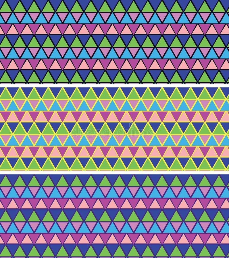 Geometrisk mosaikmodell seamless mosaikmodell Keramisk tegelplatta royaltyfri illustrationer