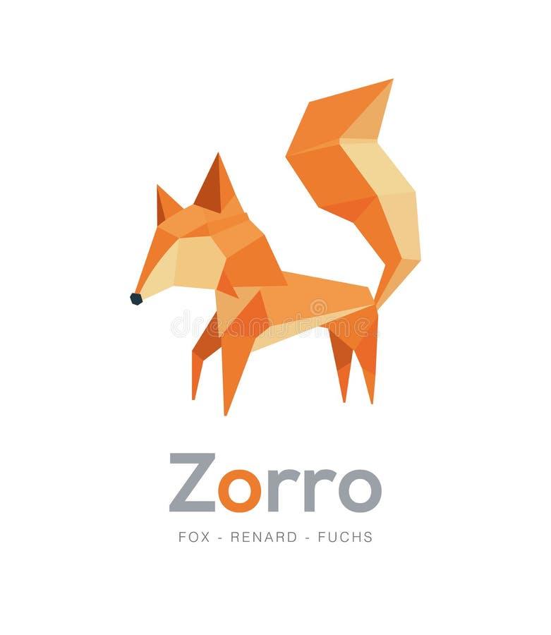 Geometrisk och polygonal stil för räv, royaltyfri foto