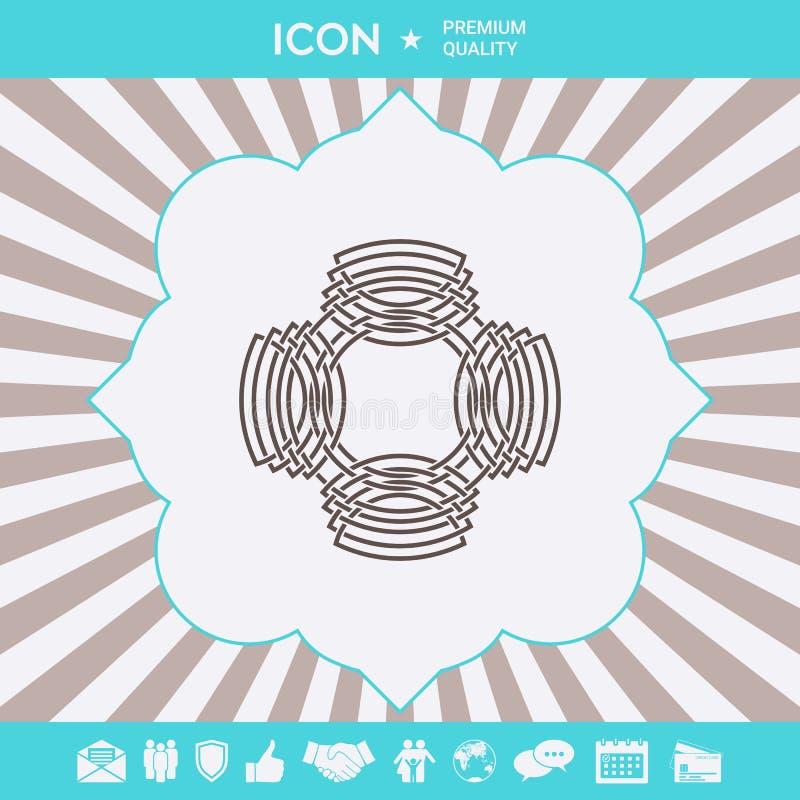 Geometrisk orientalisk arabisk modell logo ditt designelement arkivbilder