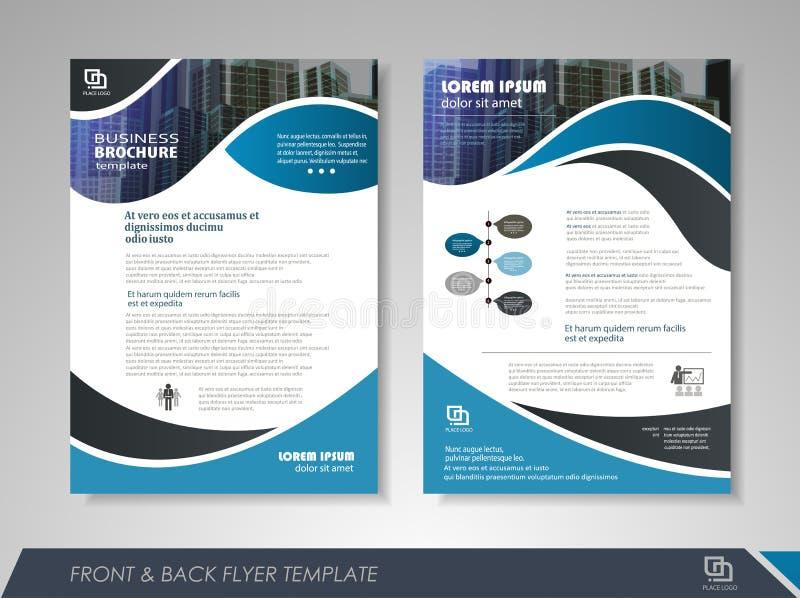 Geometrisk orientering av broschyren vektor illustrationer