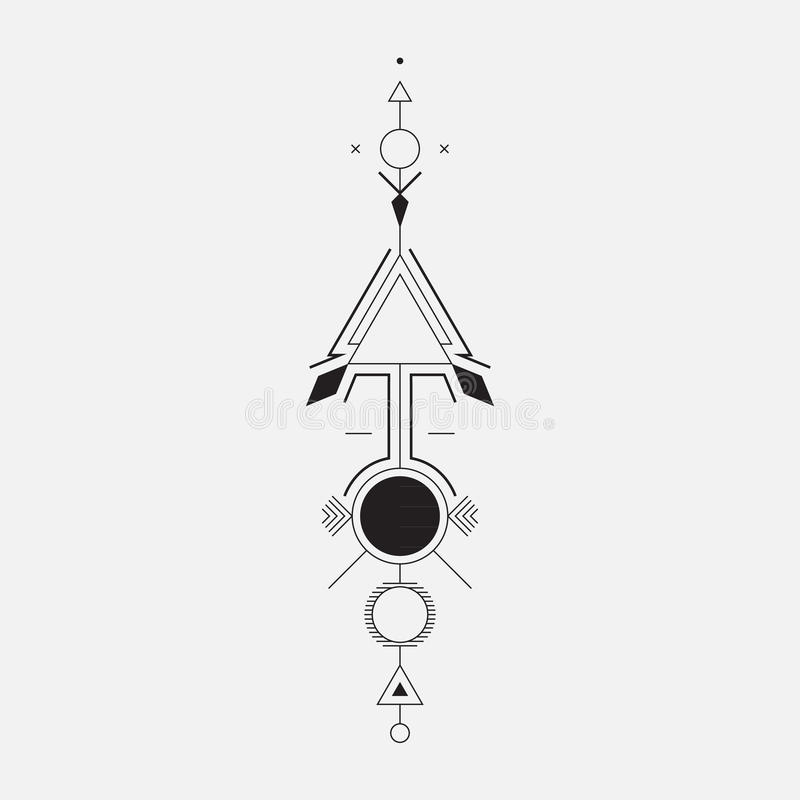 Geometrisk pil stock illustrationer