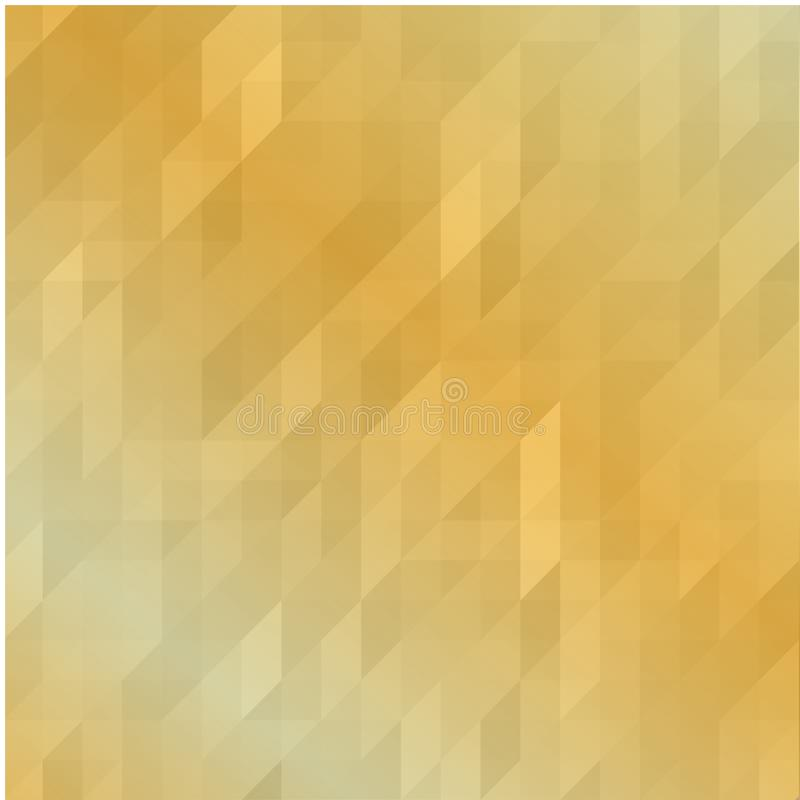 Geometrisk polygonal bakgrund i guld Ljus guld- Polygonal mosaisk bakgrund, vektorillustration, idérik affärsdesign Te stock illustrationer