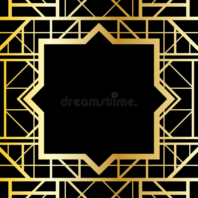 Geometrisk ram för art déco stock illustrationer