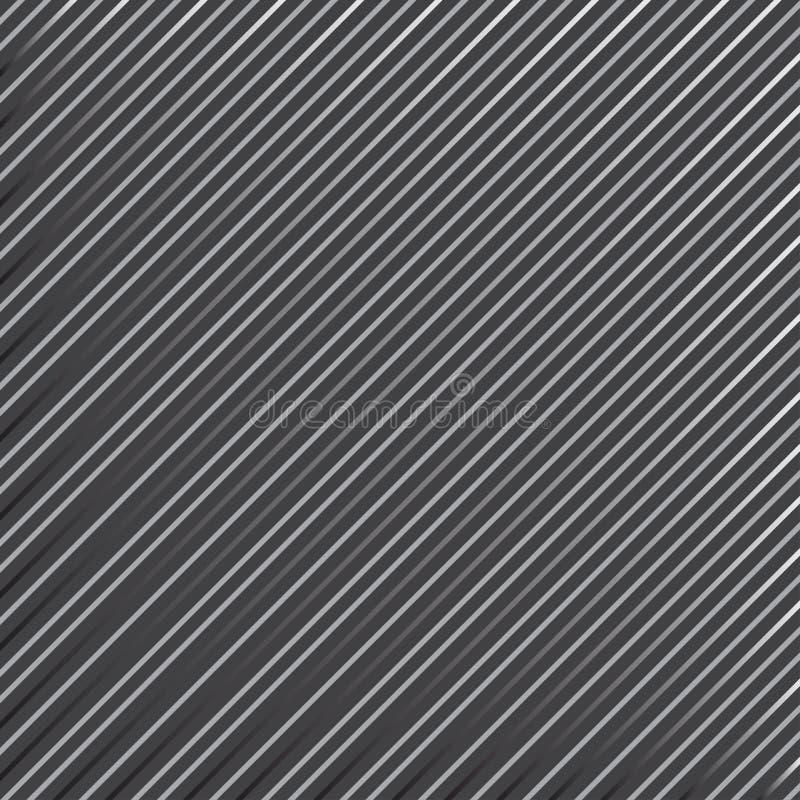 Geometrisk randig modell med fortl?pande parallella diagonala linjer p? m?rkt - gr? bakgrund vektor stock illustrationer