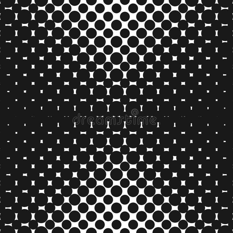 Geometrisk rastrerad sömlös modell för vektor med cirklar, prickar Design för tileable tryck stock illustrationer