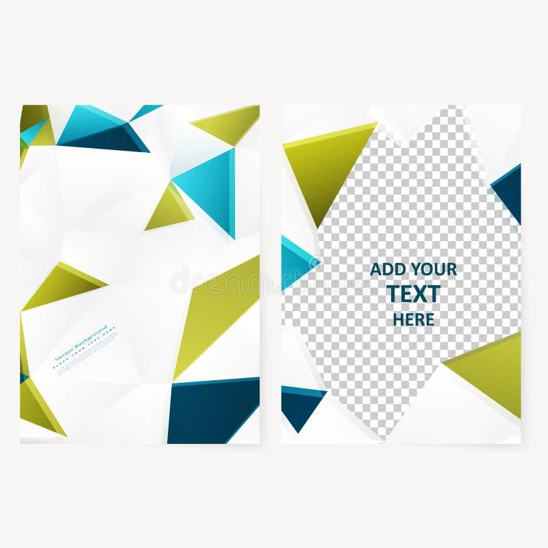 Geometrisk reklamblad för abstrakt mall royaltyfri illustrationer