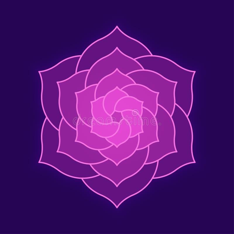 Geometrisk rosa färgblommadesign stock illustrationer