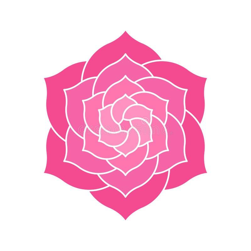 Geometrisk rosa färgblommadesign royaltyfri illustrationer