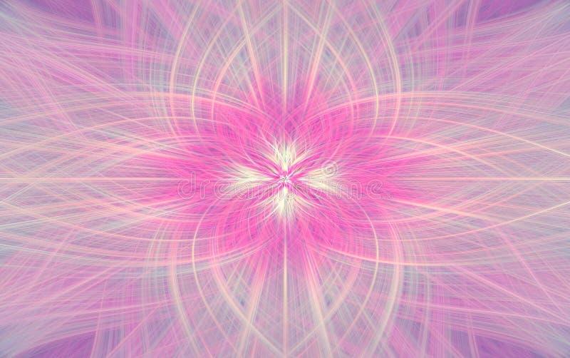Geometrisk rosa modellbakgrundsfractal Prydnad royaltyfri illustrationer