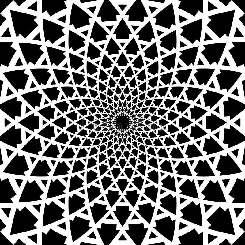 Geometrisk rotationsmodell Abstrakt design vektor illustrationer