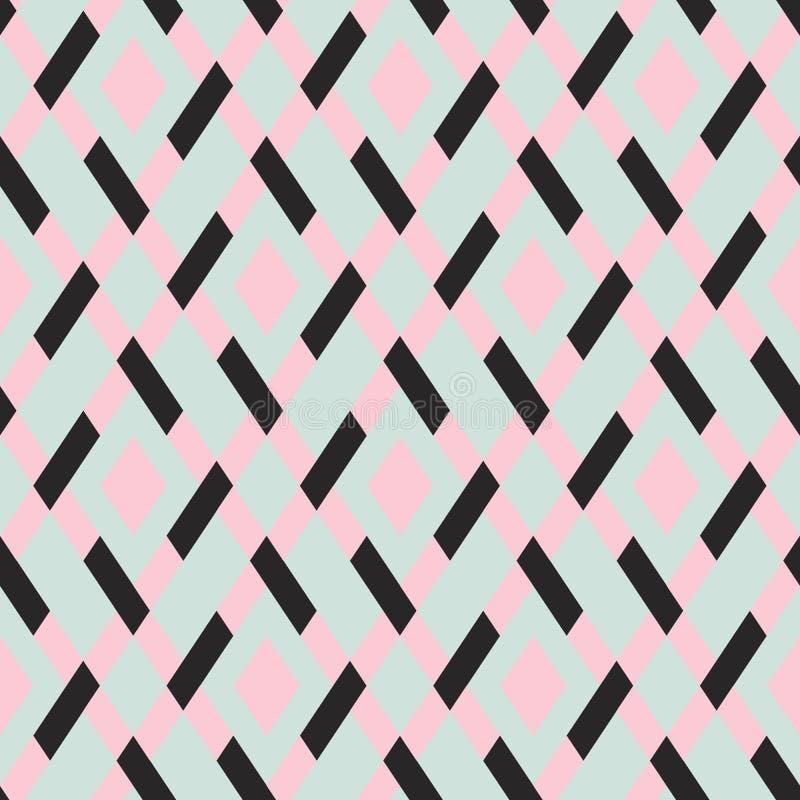 Geometrisk sömlös argylemodell för vektor royaltyfri illustrationer