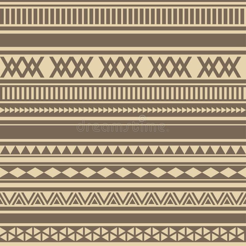 Geometrisk sömlös choklad för modellbruntkaffe royaltyfri illustrationer