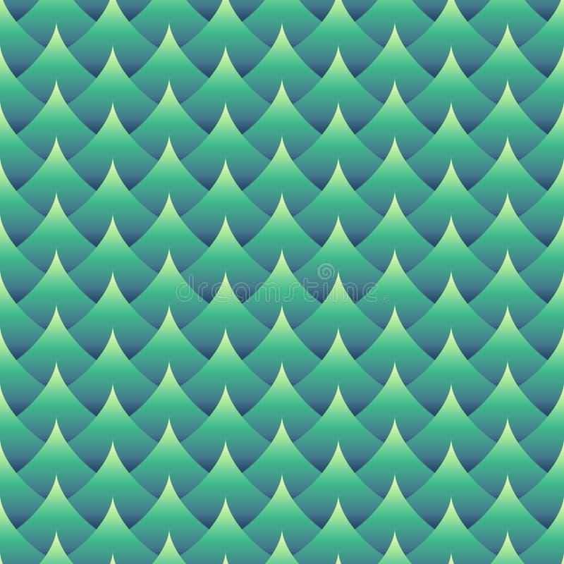 Geometrisk sömlös krabb modell vektor illustrationer