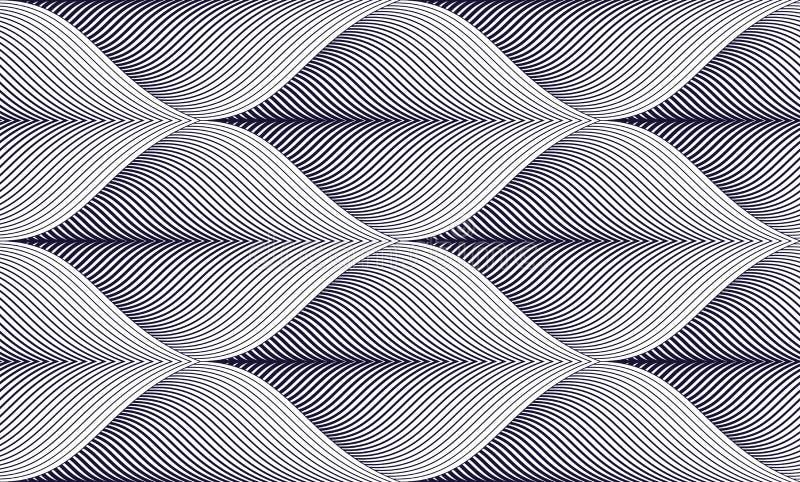 Geometrisk sömlös modell, abstrakt belägga med tegel bakgrund, vektor r stock illustrationer