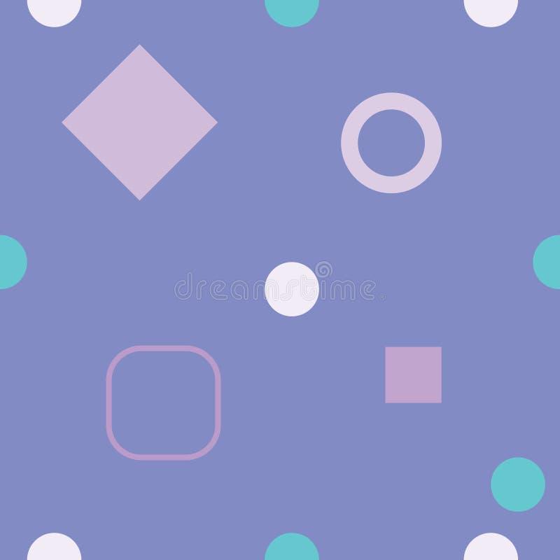 Geometrisk sömlös modell för färg, vektor stock illustrationer