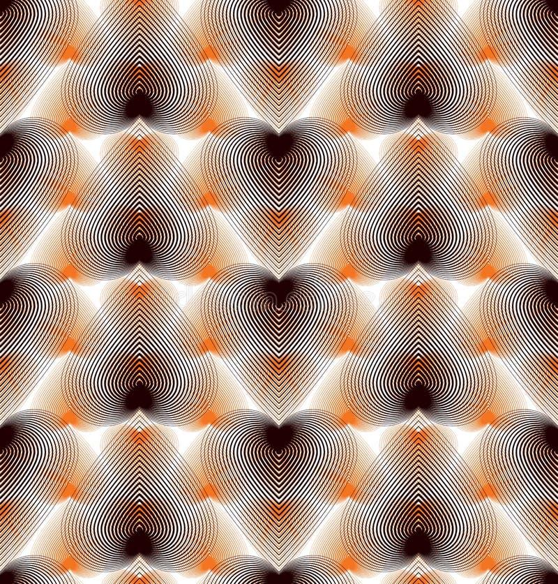 Geometrisk sömlös modell för färgrikt vektorabstrakt begrepp, härligt r stock illustrationer