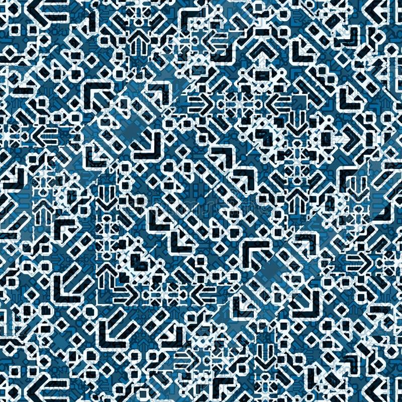 Geometrisk sömlös modell för modern islamisk stil vektor illustrationer